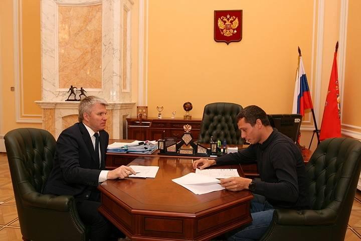 Рабочая встреча Юрия Борзаковского и Павла Колобкова