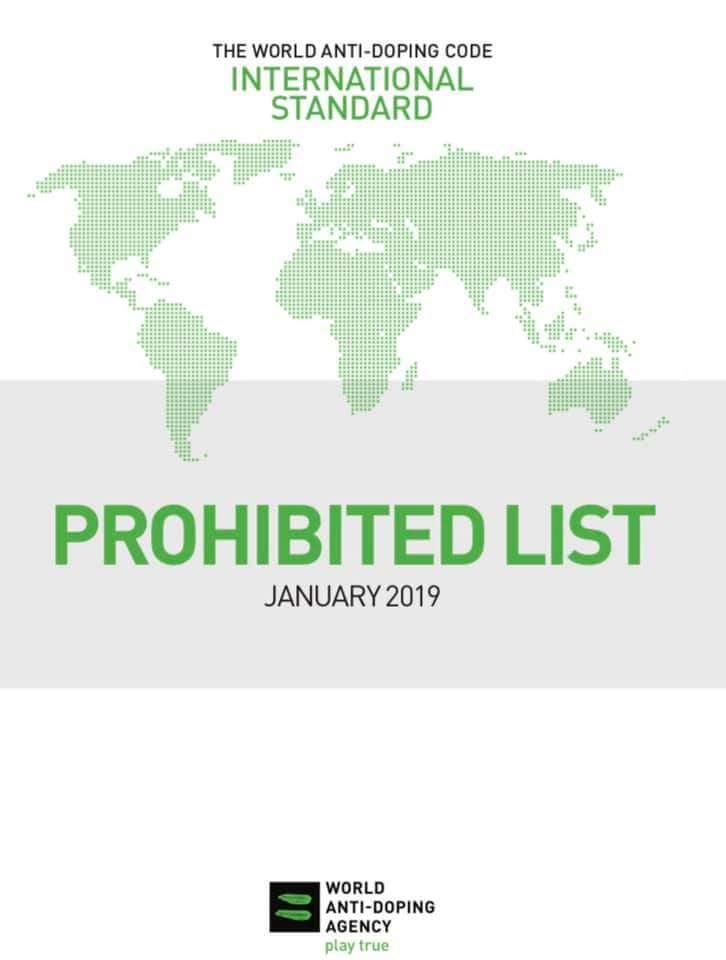 ВАДА: список запрещенных веществ 2019
