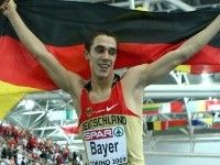 Байер устанавливает рекорд Европы в прыжке в длину