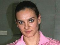 Елена Исинбаева выбирает расцветку для новых шестов
