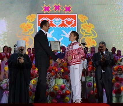 Чествование олимпийцев Чувашии