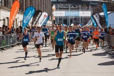 Первый забег Московского марафона